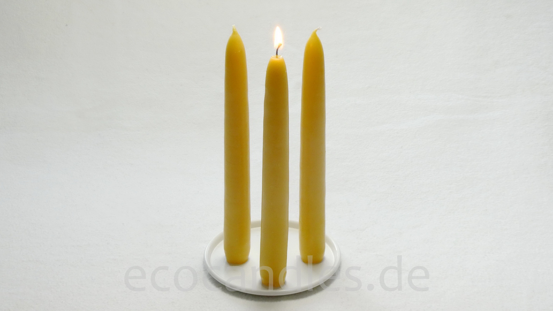 Beeswax-table candle 18 cm